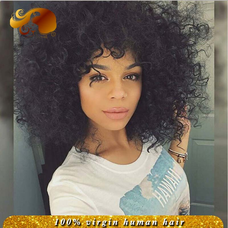 Фотография Stock Peruvian Virgin Hair Free Part Beauty Curly Lace Front Human Hair Wigs Bleached Knots Brazilian Full Lace Wig Baby Hairs