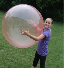 Синий и красный цвет Большой Пузырь мяч (без заряда насос Без коробки Цвета) большой воздушный шар детская игрушка wubble бурлящий шарик