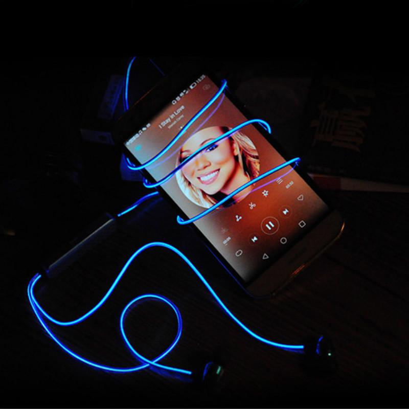 Luminous Light Laser Earphone 100% Original DACOM Heavy Bass 3.5MM Headset Earphone For all Mobile Phone mp3 Player(China (Mainland))