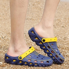 Summer Hot Sale Men's Clogs Men Breathable Casual Garden Shoes Sandy Beach Outdoor Shoes For Male Footwear SS1605028(China (Mainland))