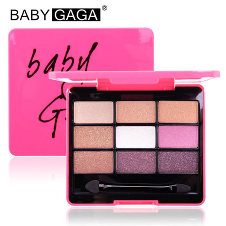 BABY GAGA 9 Colors Earth matte Eye shadow palette kit Comestic smash box Makeup woman Brand 7 patterns Choose wholesale(China (Mainland))