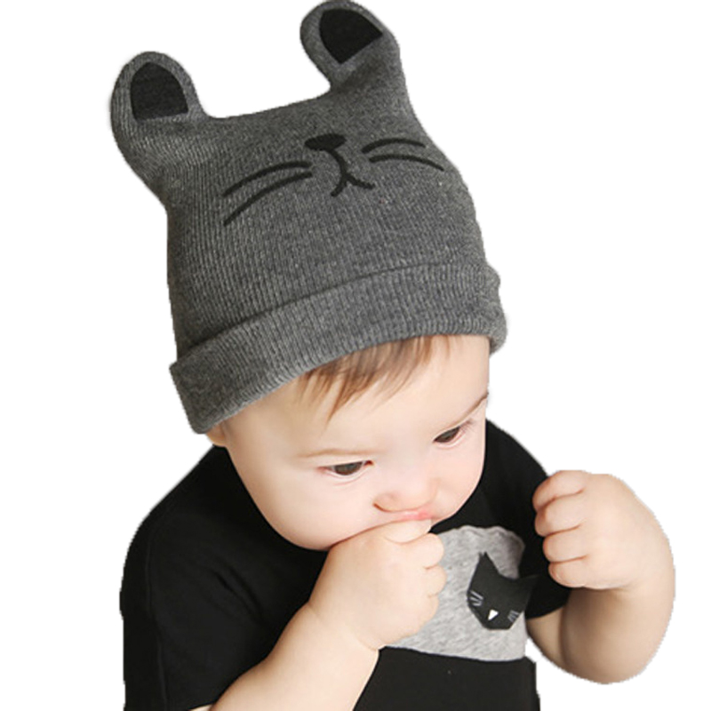 2017 Autumn Winter 0-12months Baby Hat Cotton Beanie Cap Toddler Infant Baby Girls and Boys Knitted Hats GH119 Kids Hats & Caps(China (Mainland))