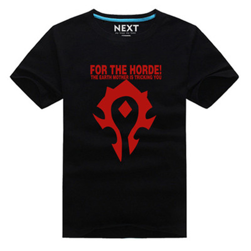 Cool Game WOW  T Shirt  Fashion Short Sleeve WOW horde symbol shirt for the horde 6 Colors tops teeОдежда и ак�е��уары<br><br><br>Aliexpress