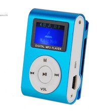New Arrival Mini Clip Mp3 Player Digital Led Light Flash Mp 3 Mp3 Music Player With Earphone + Usb Cable 24