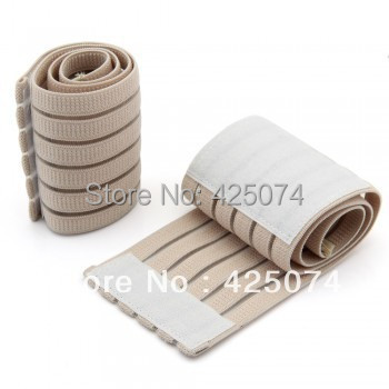 2PCS/Lot Beige Sports Elastic Stretchy Wrist Joint Brace Support Wrap Band Adjustable