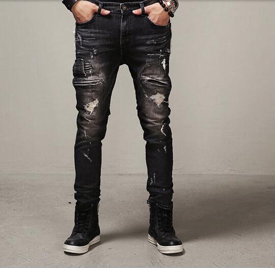 Men's Jeans and Pants. Jogger, Zipper Jeans and Biker jeans.