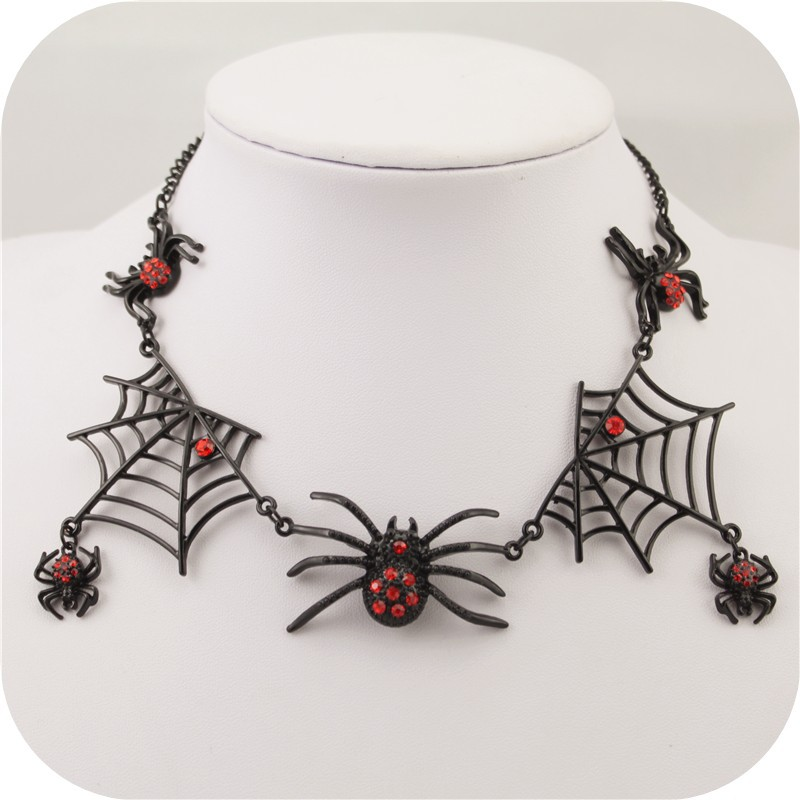 Fashion jewelry 2015 Punk Black Spider combination fashion necklaces for women(China (Mainland))