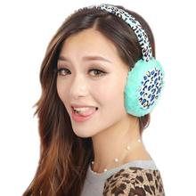 New Fashion Women Winter Earmuffs Leopard Ear Muffs Earlap Warmer Amazing(China (Mainland))
