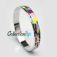 Great Value! Brand Product Newest Hot Selling Width Silver Plated Byzantinism Colorful Copper Enamel Jewelry Bangle/Bracelets