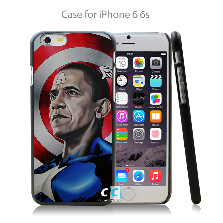 obama captain america Hard Black Case Cover Shell Coque for iPhone 4 4s 4g 5 5s 5g 5c 6 6g 6 Plus(China (Mainland))