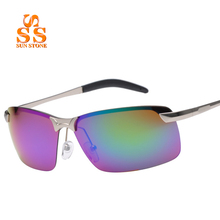 Polarized Colorful Reflective Unbreakable Lens Al-Mg Alloy Sunglasses & Box Men Women Brand Design Outdoor Sports Goggles.SC05