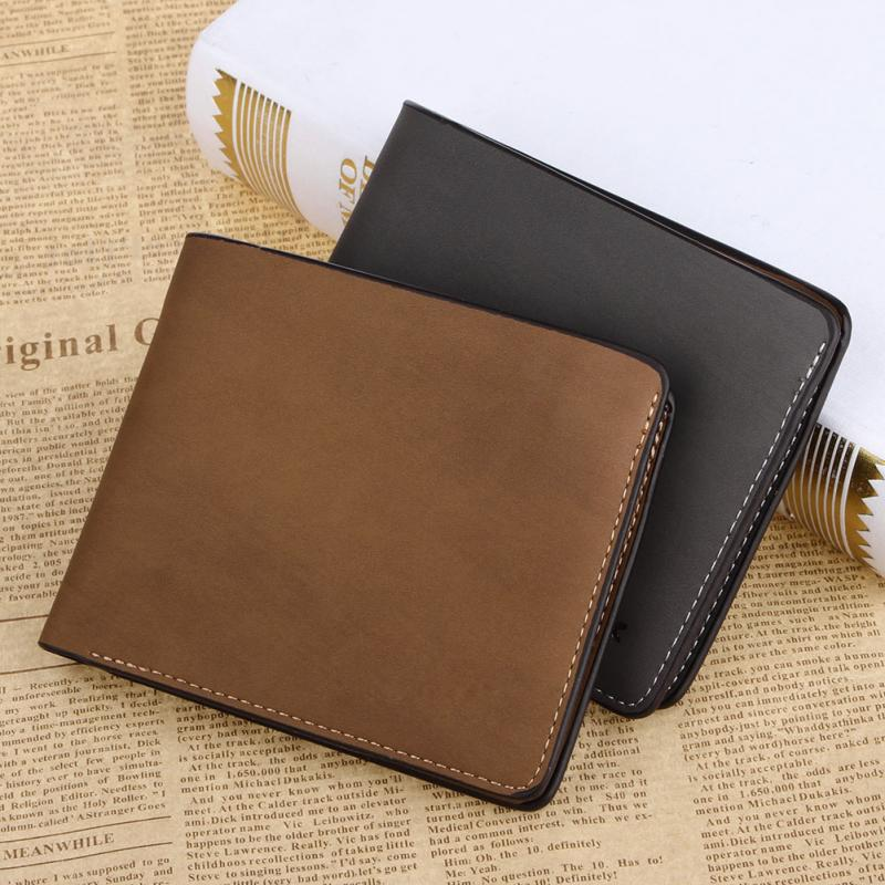 New Men Wallets PU Leather Bag Men Wallet Soft Brief Ultra thin Handmade Horizontal Pu Leather