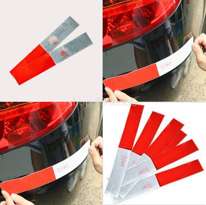 100pcs wholesale Car Styling Vinyl Film Strip truck warning Reflective tape Stickers Car Lighting Luminous Sticker Reflector(China (Mainland))