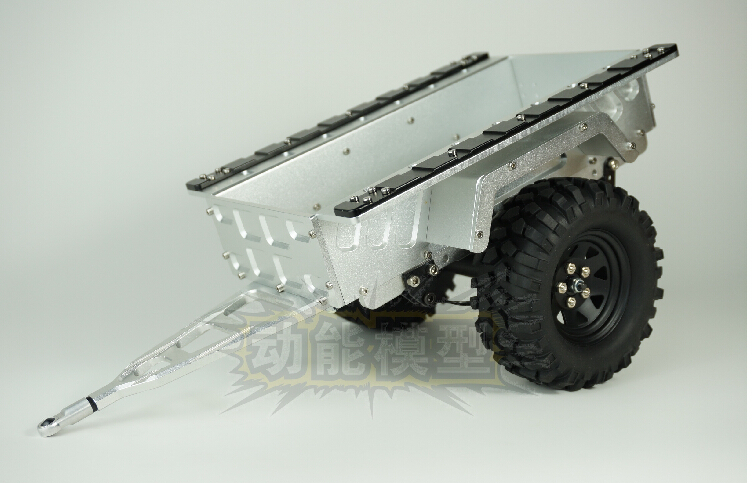 1:10 metal trailer trailer lorry and wheels set fit SCX10 CC01 F350 HILUX 90034 RC4WD D90(China (Mainland))