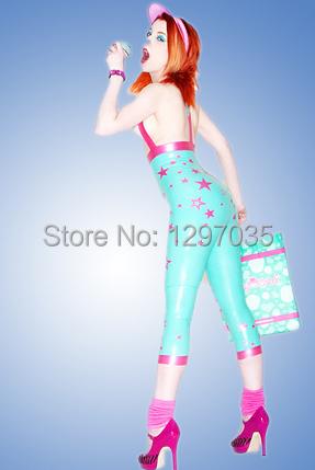 Latex tights,Nice sexy latex jumpsuit, sleeveless,100% handmade&amp;natural,  legging w/ suspendsÎäåæäà è àêñåññóàðû<br><br>