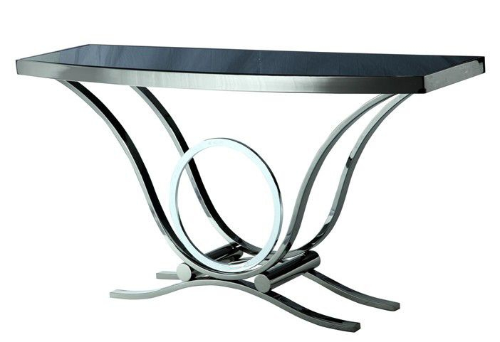 After 1333- stainless steel console table reads as modern minimalist style glass entrance cut off European Taichung(China (Mainland))