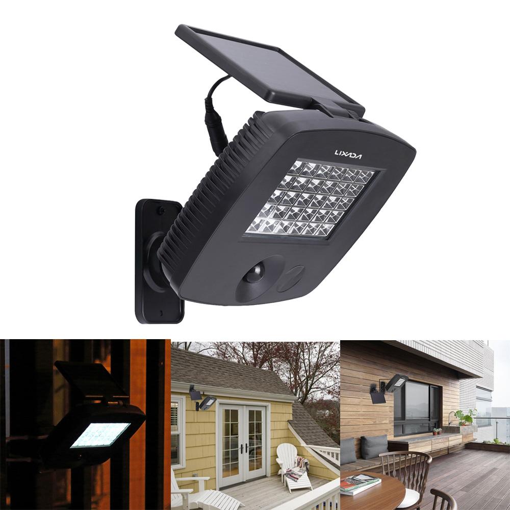light 30leds 200lm ip44 led solar powered light ultra bright outdoor. Black Bedroom Furniture Sets. Home Design Ideas