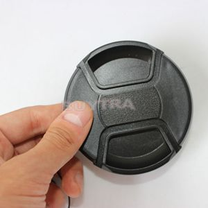 Universal 77mm Lens Cap Holder Keeper for DSLR Camera Lens Center Pinch Snap-on Front Lens Protect Cover(China (Mainland))