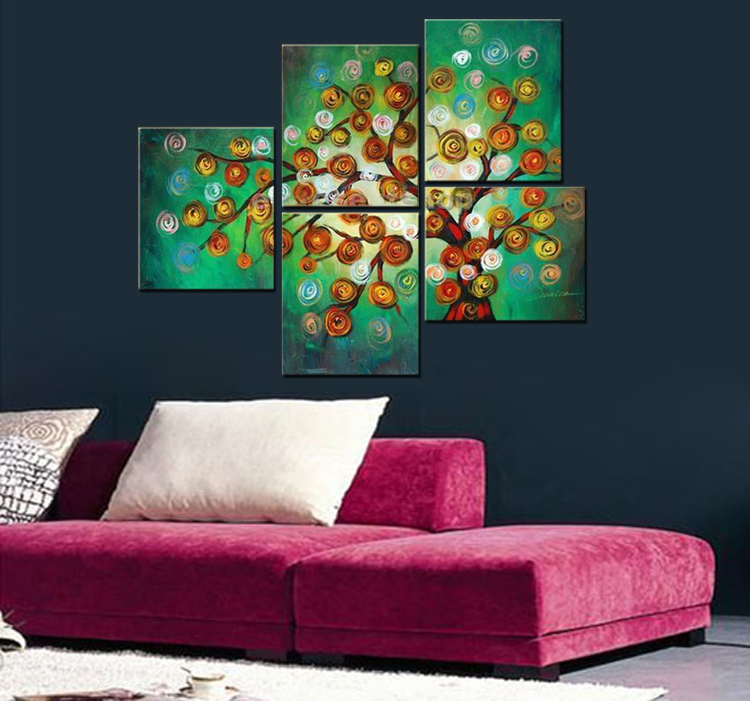 pt263 A567-LARGE Living Room Drawing room Modern Contemporary 5 Panels Huge Abstract Sexy Character Oil(China (Mainland))