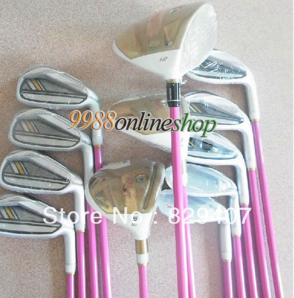 New Women Complete Club Sets RBZ STAGE2 Golf driver+3/5 fairway wood+9iron+Putter(No bag)steel shaft Golf clubs Free Shipping(China (Mainland))