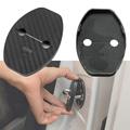 1Pcs Door Lock Protective Cover For VW Passat Golf MK6 Tiguan Polo Scirocco Black
