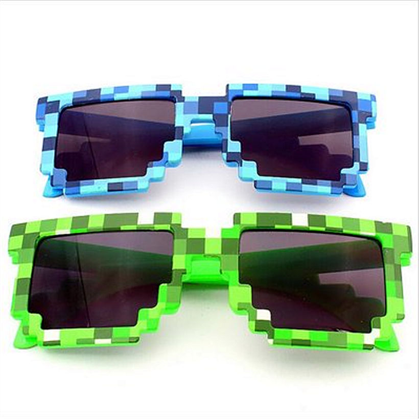 Minecraft Glasses Deal With It Brand Designer Men Women's 8 Bits Pixel Retro Sunglasses Female Male Mosaic Sun Glasses(China (Mainland))