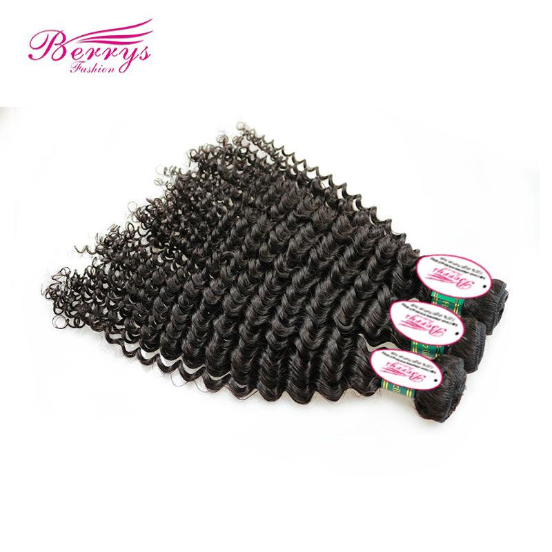 "Brazilian Virgin Hair Deep Curly 3pcs/lot (12""-30"") Unprocessed Human Hair Extension Best Selling Berrys Virgin Hair(China (Mainland))"