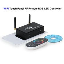 ( 5 pcs/lot ) WiFi RGB LED Controller Touch Panel Screen RF Remote Control For SMD 3528 5050 RGB LED Rigid Strip