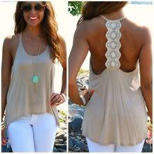 Fashion Women Summer Casual Backless Tank Tops Sleeveless shirt Vest Blouse(China (Mainland))