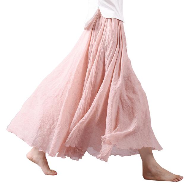 2016 модный дизайн юбки женщин белье хлопок старинные длинные юбки эластичный пояс ...