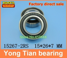 free shipping Bicycle hub bearing 15267-2RS for Chin Haur Disc/HH series hubs & A2Z XCR/XCF series hubs 15*26*7 mm ABEC-5