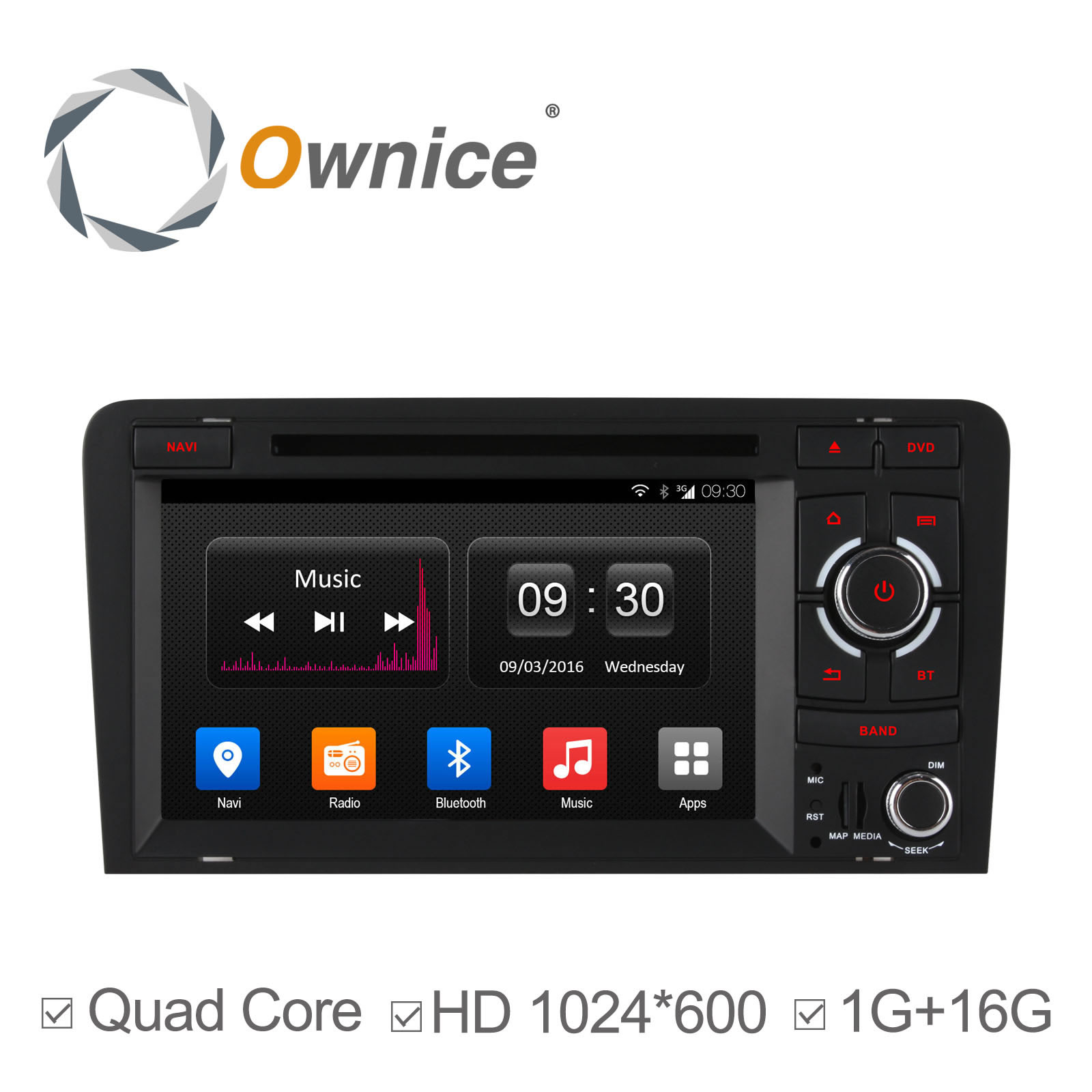 Radio android 2din para a3 8p forocoches for Mueble 2 din audi a3