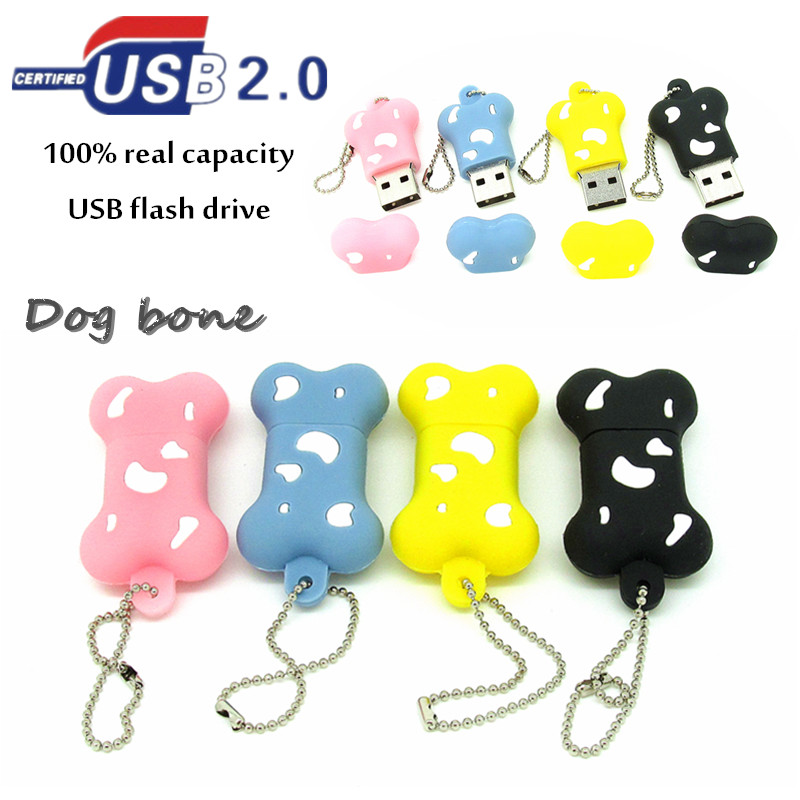 cute animal Dog bone usb flash drive pen drive 32g pendrive 16g 8g 4g new style cartoon pendrive Usb2.0 U disk real capacity(China (Mainland))
