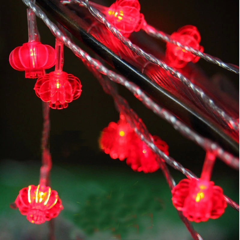 10M 100SMD Red Lanterns LED String Lights Christmas Holiday Party Fairy Wedding Light Decoration(China (Mainland))