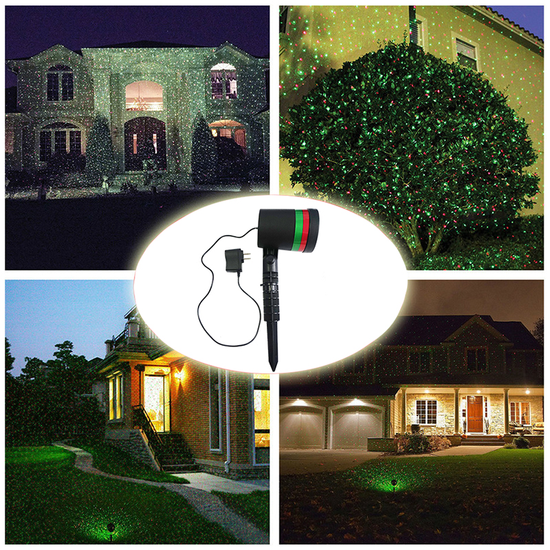 Outdoor Lights Christmas Laser Projector Lawn Light disco Stage Shower Lamp Landscape Garden Park Party Decoration for Home(China (Mainland))