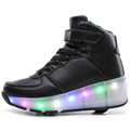 NEW 2017 Children High Shoes Flashing Roller Skates With LED Lighted Breathable Kids Wheel Sneakers Fashion