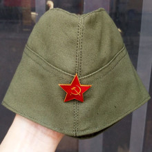 WWII Soviet Army Garrison Cap WW2 Russia Military Side Caps with Five Star Insignia Ship Caps 640101(China (Mainland))