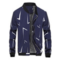 Winter Jacket Men 2016 Teen Warm Geometric Design Fit Thick Zippers Plus Velvet Long Sleeve Outerwear