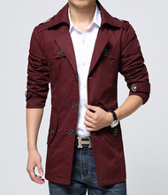 New Style Mens Trench Coat Fashion Single Breasted Removable Hooded Slim Long Trench Coat Men Casual Mens Long Coat With A Hood(China (Mainland))