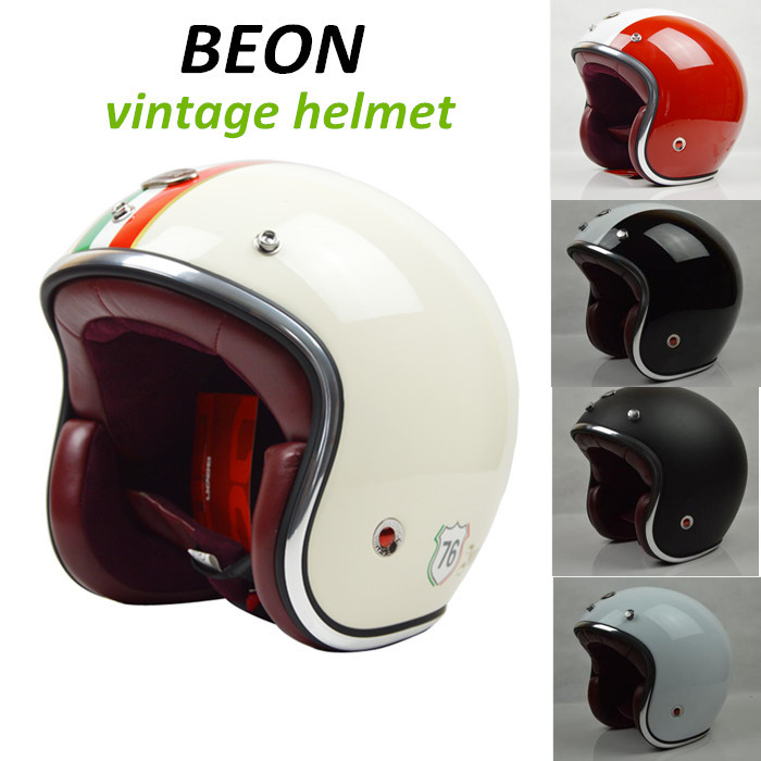 Beon 2014 new Casco capacetes 3/4 open face vintage motorcycle helmet ECE approved cross jet helmets - CYCLES CLUB store