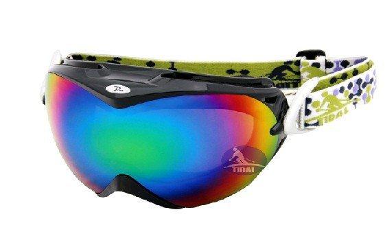 Free delivery Dazzle colour professional ski mirror outdoor ski glasses fashion skiing