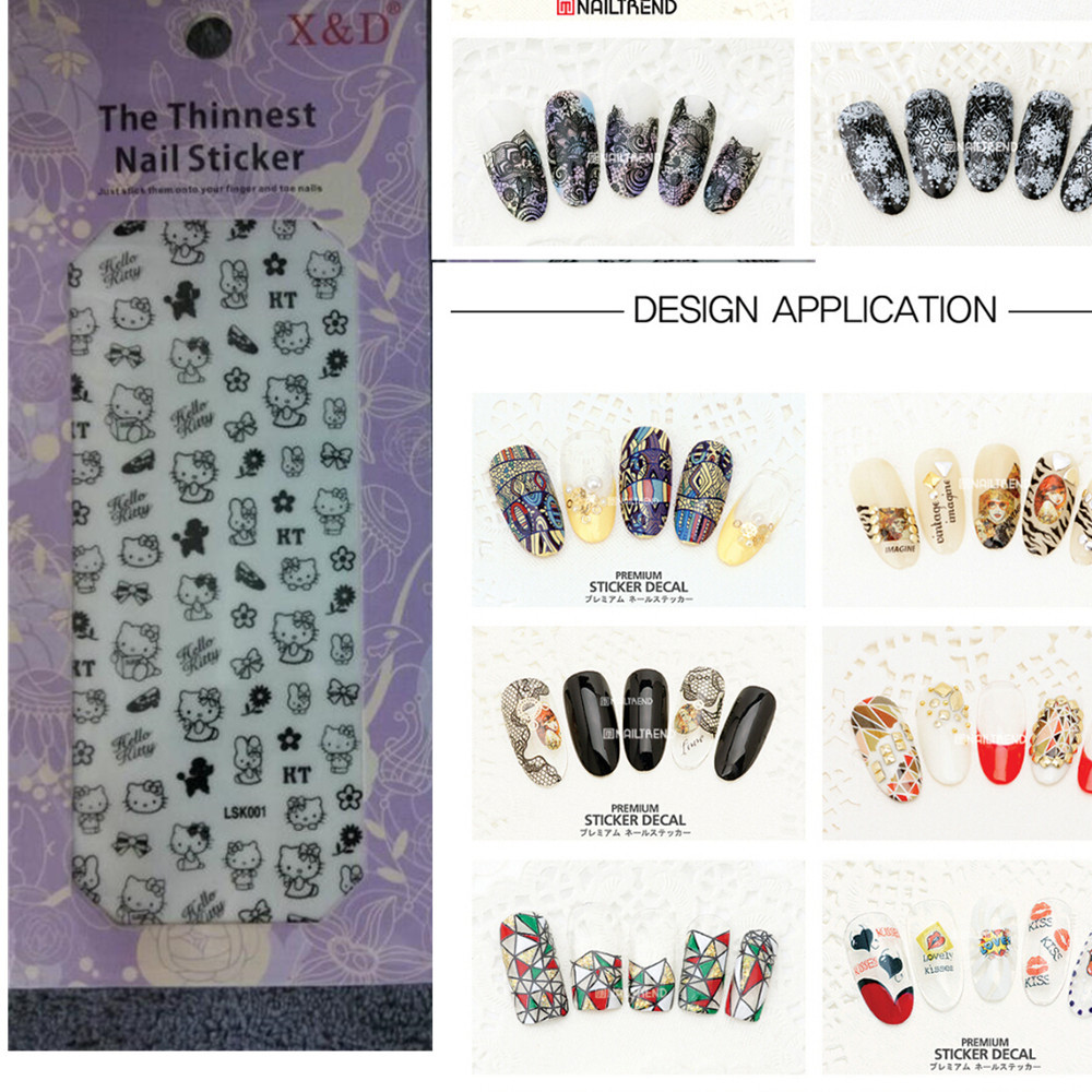 80sets New Japan Thinnest Sticker Decals 3d Nail Art Decorations Salon Express Tips nail DIY Patch Wraps Wholesales NA205(China (Mainland))