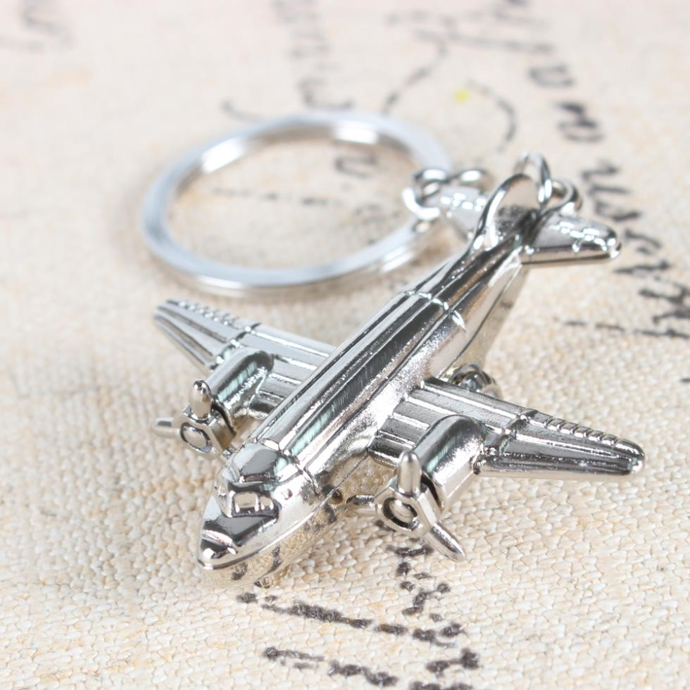 Arrive Metal Model Aircraft Airplane Charm Pendant Car Key Ring Keychain Creative Party Birthday Gift - Keys Chain Kingdom store