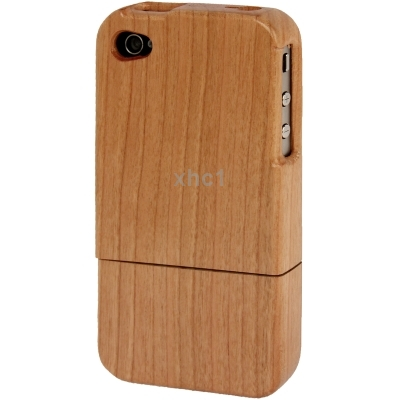 Novel Mobile Phone Rosewood Material Detachable Case for iPhone 4 4S Support Wholesale order big Discount(China (Mainland))