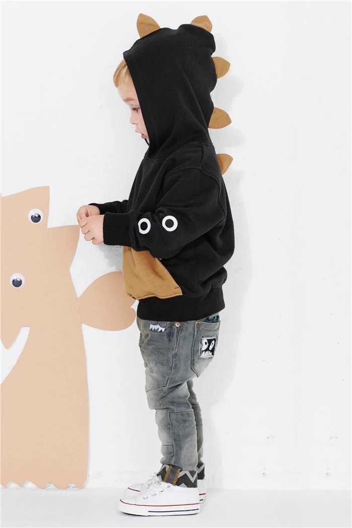 hot sale 2015 boys Dinosaur Hoodie Fleece Sweatshirt Boys Spring Autumn Coat Kids Long Sleeve Casual Outwear Baby Clothing(China (Mainland))