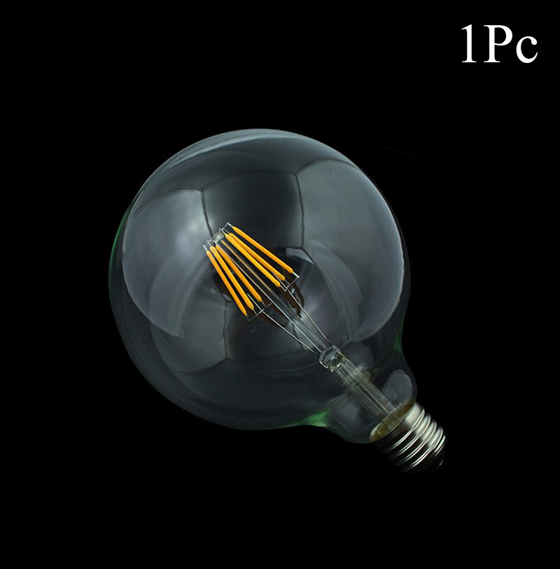1x Edison Led Filament Bulb G125 Big Global light bulb 8W/12W filament led bulb E27 clear glass indoor lighting lamp AC220V(China (Mainland))
