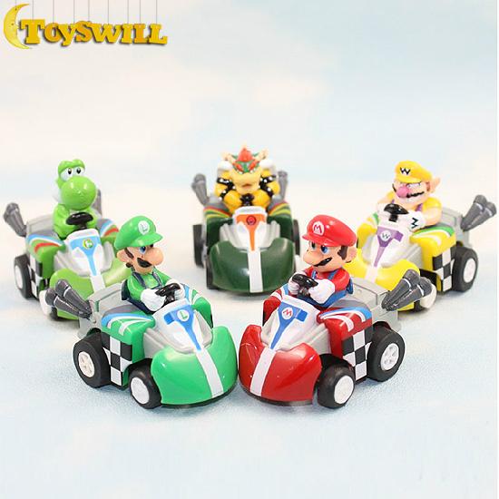 Super Mario Bros Mini Kart Pullback Figure Toys 5 pcs / lot TW21735(China (Mainland))