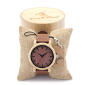 BOBO BIRD New Arrival Red Wood Watch For Women And Men With Japanese Miytor Movement Mens