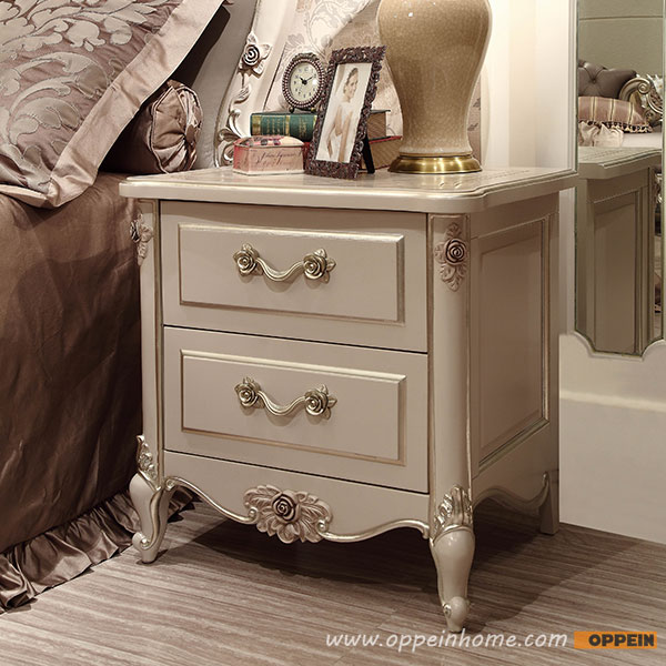 High quality bed fashion Modern French Stylesolid Wood Nightstand OV-0314008(China (Mainland))