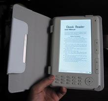 Hq 7 pollice e-book reader 8 gb capacità di memoria ebook con mp3 mp4 etc funzione con custodia in pelle(China (Mainland))
